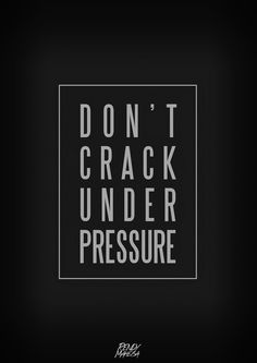 Don't crack under pressure. Spartan Life, Best Quotes, Funny Quotes, Pressure Quotes, Funny Thoughts, Under Pressure, Some Words, Positive Quotes, Perspective