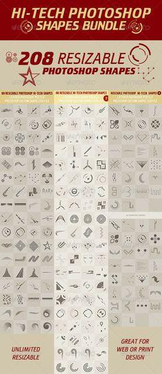 Hi-Tech Photoshop Shapes Bundle - http://graphicriver.net/item/hitech-photoshop-shapes-bundle/2942566?ref=cruzine