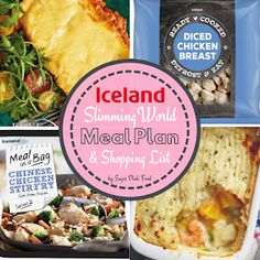 Aldi 7 Day Slimming World Friendly Meal Plan & Shopping List - Sugar Pink Food Iceland Slimming World, Slimming World Meal Prep, Slimming World Lasagne, Slimming World Shopping List, Slimming World Free Foods, Slimming World Recipes, Shopping Lists, Easy To Digest Foods, Nutrition Meal Plan