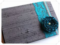 Cute guest book!!     http://www.etsy.com/listing/96769812/dark-gray-and-teal-wedding-guest-book?ref=sr_gallery_13_includes%5B0%5D=tags_search_query=teal+wedding_search_type=all_view_type=gallery