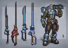 Holy Baron sci fi special forces spec ops soldier futuristic future design armor swords energy blade light saber custom design by soulsurvivor.jpg (704×502)