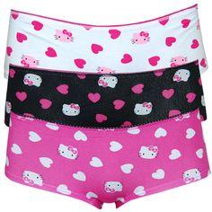 3a607de0f0275 Hello Kitty Fuzzy Love Panty Set - 3 pairs of Hello Kitty panties