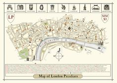 Timeout map of unusual features on London streets.