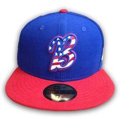 7e91bf77f7d Bakersfield blaze Stars7 Stripes fitted Hats Minor League Baseball