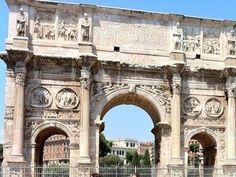 Rome, Italy.  The Arch of Constantine.