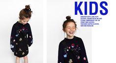 EMBROIDERED SWEATER Zara United Kingdom, New Girl, Kids Girls, Dress To Impress, Cool Kids, Latest Trends, Girl Outfits, Graphic Sweatshirt, Stylish