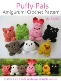 Puffy Pals Amigurumi Crochet Pattern (Easy Crochet Doll Patterns) by Sayjai… Crochet Simple, Crochet Diy, Crochet Gratis, Crochet Amigurumi, Crochet Doll Pattern, Easy Crochet Patterns, Love Crochet, Amigurumi Patterns, Crochet Dolls