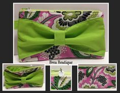 Handmade bow wristlet by Brea Boutique with Vera Bradley fabric. Only $12.95! Great Christmas gift!