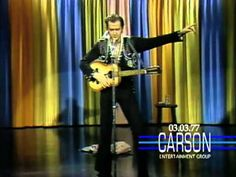 "Andy Kaufman's first ""Tonight Show Starring Johnny Carson"" appearance where he performs as Elvis Presley in 1977."