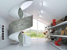 Pedra flexivel na decoração