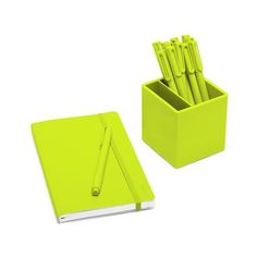 #4limegreendecor Poppin Lime Green Best Day Ever Set | Notebook, Pens, Pen  Cup · Cool Office SuppliesPen ...