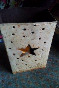 4f88c9883503 Used grey star cutout rectangular metal candle lantern for sale in  Scottsdale - letgo