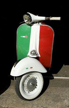 Vespa - dressed in very Italian colors