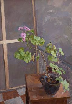 theworkhousepainter:  Alex Fowler Pink Geraniums (via Pink Geraniums)