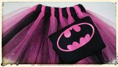 Batman Batgirl inspirado juego de Tutu niñas
