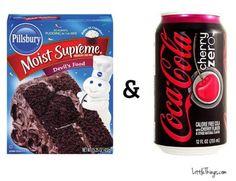Chocolate Cake + Cherry Coke Zero = Sinless Devil's Food Cake