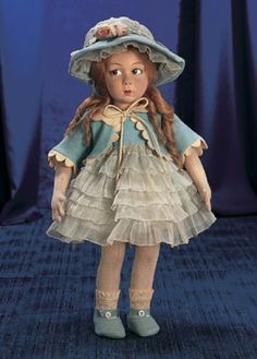 Magnifique! Family Dolls of Mildred Seeley: 332 Italian Cloth Character Girl by Lenci