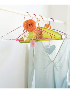 Fabric covered wire hangers