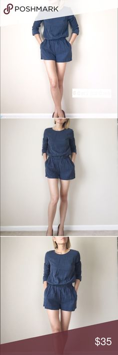 "SALE Suede romper Suede like romper in tasteful dark BLU real Fabric 100%LYOCELL . Measurements; length/bust/waist/inseams. Xs:33/19:16:2.5"", S;33""/20/17""/3"", M:34""/21""/18""/3.5"" . L:34"":22""/19""/3.5"".PLEASE DO NOT USE MY PICTURE WITHOUT PERMISSION.  This is NOT vendor photo stock. This is me putting extra effort into modeling and taking the picture myself. Please only use it with permission. I will truly appreciate it. Thank you CHICBOMB Pants Jumpsuits & Rompers"