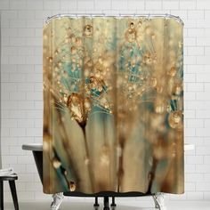 Find Droplets Of Gold Single Shower Curtain East Urban Home online. Shop the latest collection of Droplets Of Gold Single Shower Curtain East Urban Home from the popular stores - all in one Gold Shower Curtain, Shower Curtains, Shower Sizes, Gold Bathroom, Bathroom Ideas, Garden Shower, Bathroom Gallery, Teal And Gold, Stained Glass Art