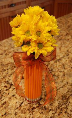 Pencil vase for a teacher's desk
