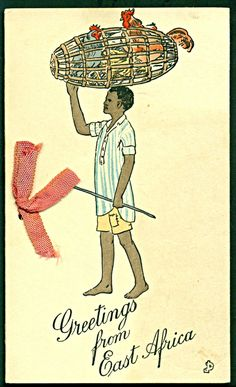 Missionaries Greetings from East Africa Card  1935