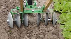 Wheel Hoe Push Cultivator Disk Harrow - Hand Push Garden Cultivators - Garden/Orchard/Farming - Farm & Garden