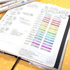 Zebra Mildliners used in a Hobonichi planner (buy these @JetPens)