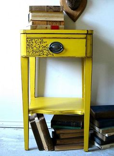 love the little details. i have a shabby chic side table that would look so cute upcycled this way!