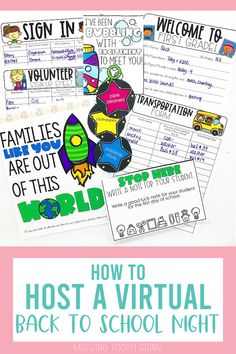 Are you thinking of hosting a virtual back to school night or meet the teacher this year? It can be done in a fun and easy way! This blog post walks you through the process of hosting a virtual open house night with many ideas for teachers. Everything mentioned in this post is housed on Google Slides and can be used in Google Classroom as well. Save paper and go digital! (Meet The Teacher, Open House) #virtualbacktoschoolnight #missingtoothgrins
