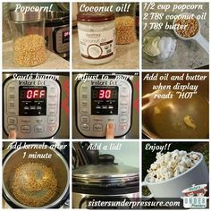 Sisters Under Pressure Instant Pot Popcorn Recipe Pressure Pot, Slow Cooker Pressure Cooker, Under Pressure, Instant Pot Pressure Cooker, Instant Cooker, Pressure Cooking Recipes, Slow Cooker Recipes, Pots, Cooking Tips