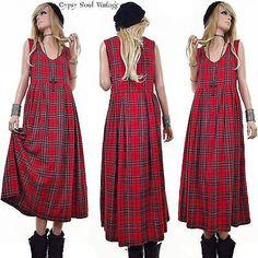 Vintage 90s Scotch Plaid Dress at Gypsy Soul Vintage