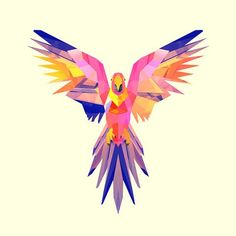 Facets : un projet de 365 dessins en low poly par Justin Maller Low Poly, Vector Design, Vector Art, Images Pop Art, Justin Maller, Parrot Drawing, Abstract Animals, Arte Pop, Geometric Art