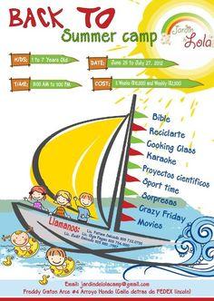 """KF Design work in this flyer """"Summer Camp Jardin de Lola"""""""