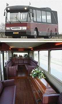 FUNERAL BUS!....the whole family can travel to the cemetery together :-)