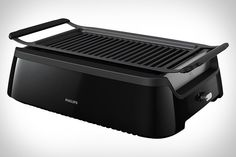 Summertime is grilling season. When the weather isn't ideal, take the barbecue inside with the Philips Smokeless Infrared Indoor Grill. Using infrared technology, the grill heats to a consistent temperature perfect for searing. Reflectors keep the heat at the center,...