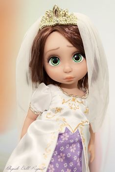 https://flic.kr/p/Dq1N7e | Rapunzel animator Disney doll wedding ooak repaint tangled ever after limited edition le mariage de raiponce animator's collection photography custom custo bride bridal photography dolls animators toddler