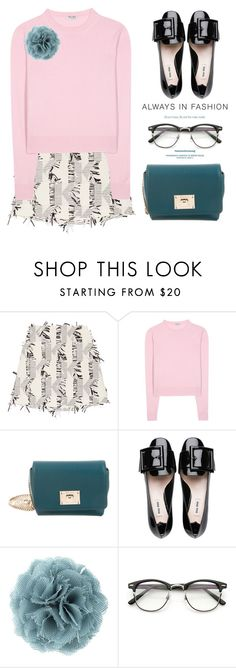 """Pink & Teal"" by ivansyd ❤ liked on Polyvore featuring Karl Lagerfeld, Miu Miu, Jimmy Choo, Lanvin and tealbag"