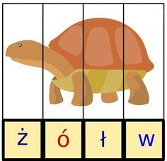 puzzle do nauki czytania Yoshi, Montessori, Puzzles, Back To School, Kindergarten, Crafts For Kids, Language, Education, Cards