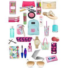 """back to school essentials"" by haleyhansli on Polyvore"