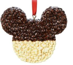Disney Parks Mickey Mouse Chocolate Krispie Treat Christmas Ornament