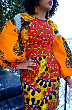 """That Black Chic: Sew What? African """"POT LUCK"""" Dress, that's what! [Butterick B6088 Pattern Review]"""