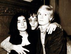 Yoko Ono, John Lennon e Andy Warhol, 5 giugno 1971. - (David Bourdon)