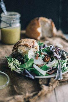 winter salad with bacon & caramel apple vinaigrette + food52 cookbook giveaway   {local milk}