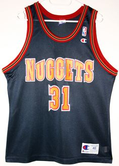 Champion NBA Basketball Denver Nuggets #31 Nick Van Exel Trikot/Jersey Size 40 - Größe M - 89,90€ #nba #basketball #trikot #jersey #etsy #sport #fitness #fanartikel #merchandise #usa #america #fashion #mode #collectable #memorabilia #allbigeverything