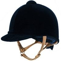 The Fian Helmet by Charles Owen is the next step in safety and elegance for a hunting and showing helmet. The Fian Helmet is covered in luxurious velvet, and offers a slim tan harness to complete the elegant look while keeping the traditional styling of Equestrian Boots, Equestrian Outfits, Equestrian Style, Equestrian Fashion, Horse Fashion, Riding Hats, Horse Riding, Riding Helmets, Riding Clothes