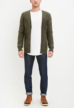 Classic Wool-Blend Cardigan - Knits & Cardigans - 2000158306 - Forever 21 UK