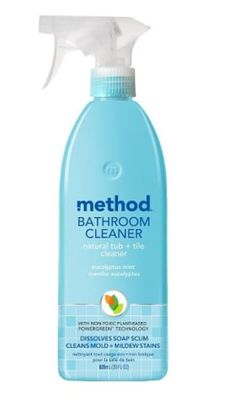 method bathroom cleaner's naturally derived, non-toxic ingredients deliver a mighty punch. our plant-based formula prevents soap scum + lime deposits. Mildew Stains, Mold And Mildew, Remove Stains, Method Cleaner, Method Cleaning Products, Daily Shower Spray, Bathroom Cleaning Hacks, Cleaning Tips, Weekly Cleaning