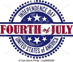 EPS Vectors of Fourth of July Independence Day - A vintage rubber ...