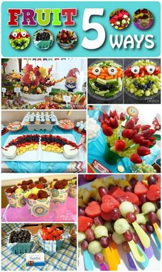 Fruit Party Food - the fruit kabobs would be great for a picnic party! Fruit Kabobs, Fruit Snacks, Fruit Recipes, Fruit Party, Party Snacks, Bunco Snacks, Fresco, Ambrosia Recipe, Fruits For Kids